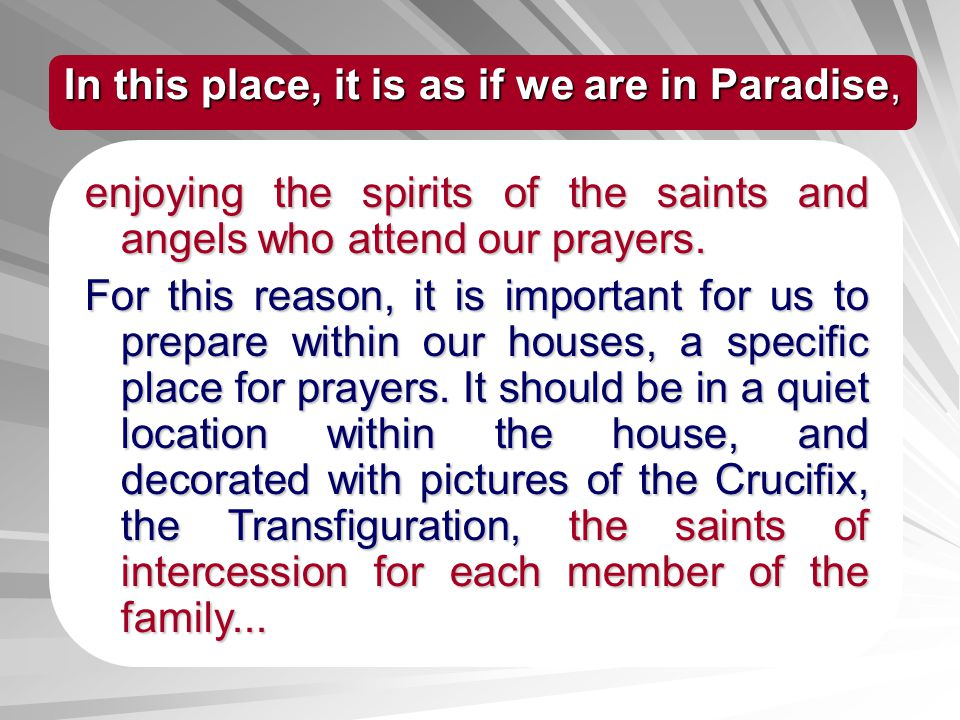 In this place, it is as if we are in Paradise,