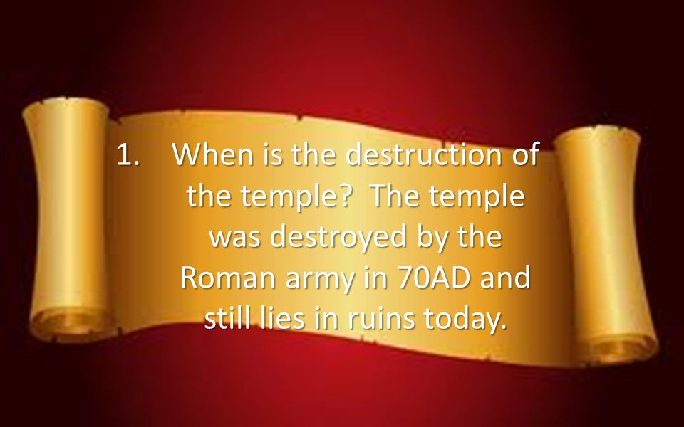 When is the destruction of the temple
