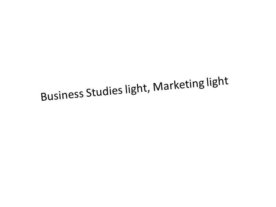Business Studies light, Marketing light