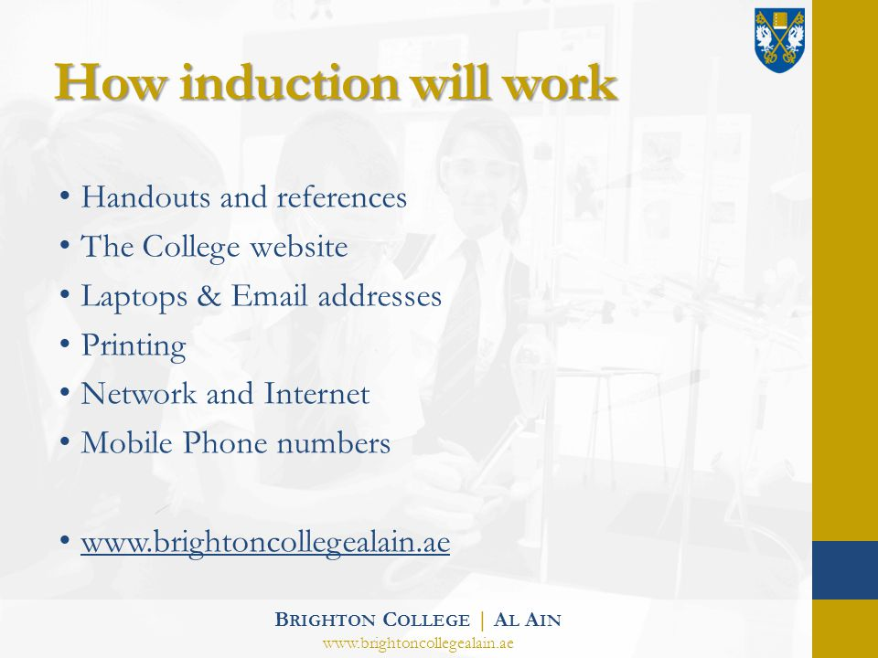 How induction will work