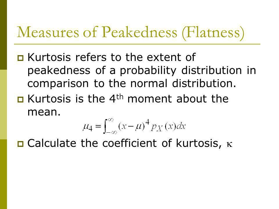 Measures of Peakedness (Flatness)