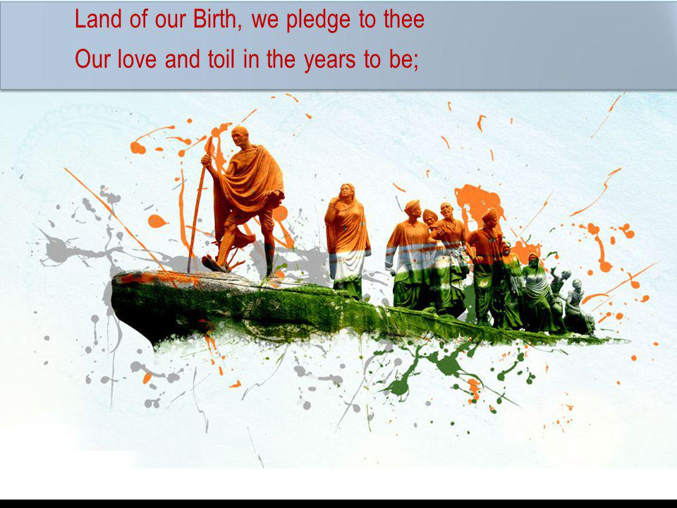 Land of our Birth, we pledge to thee