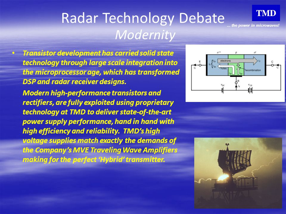 Radar Technology Debate