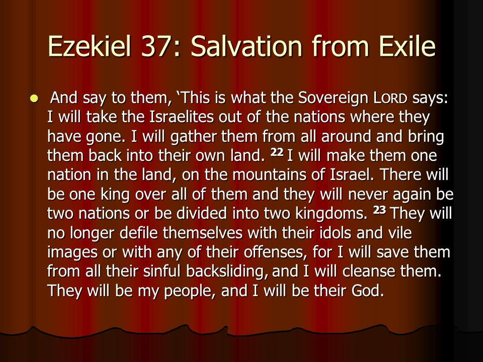 Ezekiel 37: Salvation from Exile