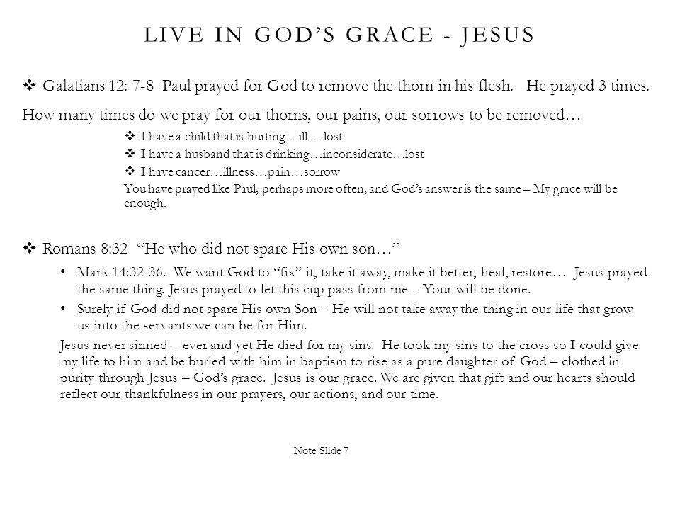 Live in God's Grace - Jesus