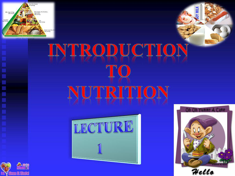 introduction to food and nutrition pdf