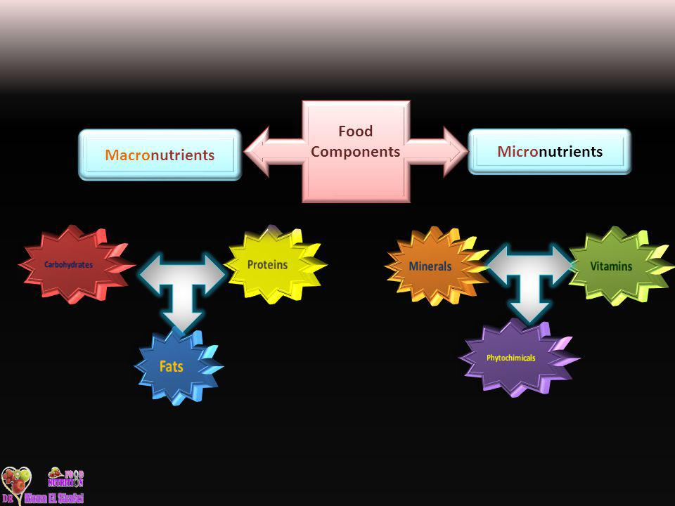 Food Components Macronutrients Micronutrients Fats