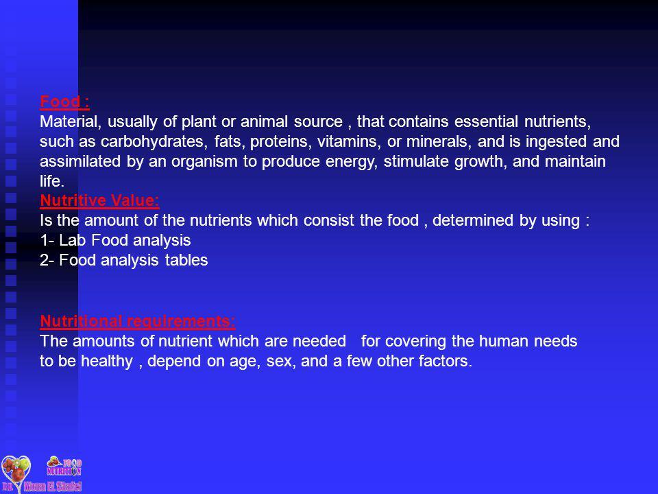 Food :
