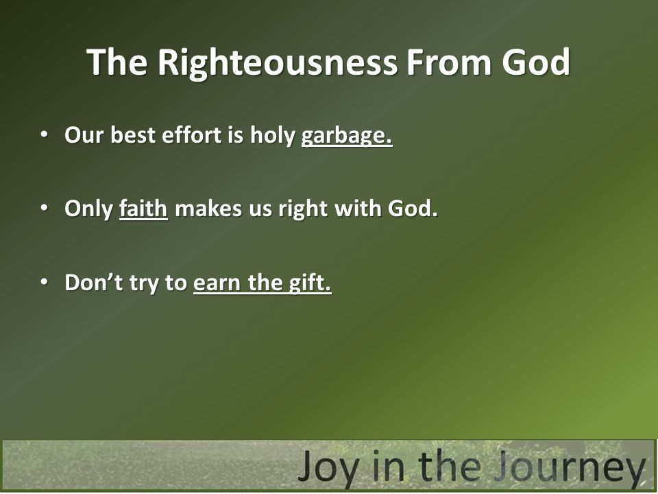 The Righteousness From God