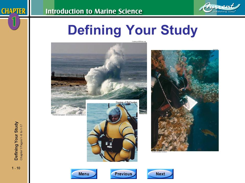 Defining Your Study Defining Your Study Chapter 1 Pages 1–8 to 1-17