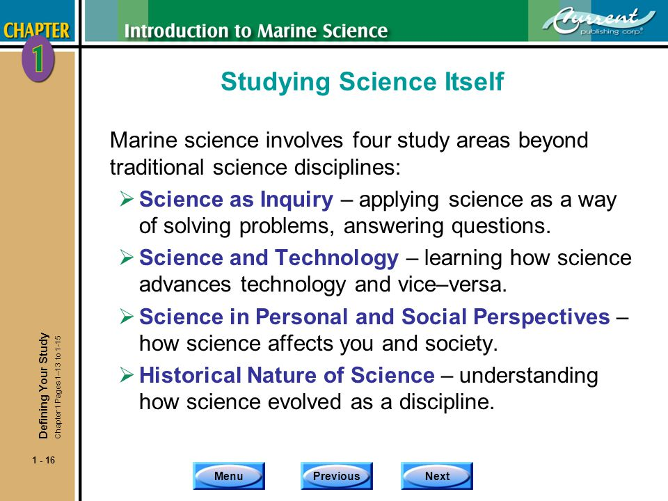 Studying Science Itself