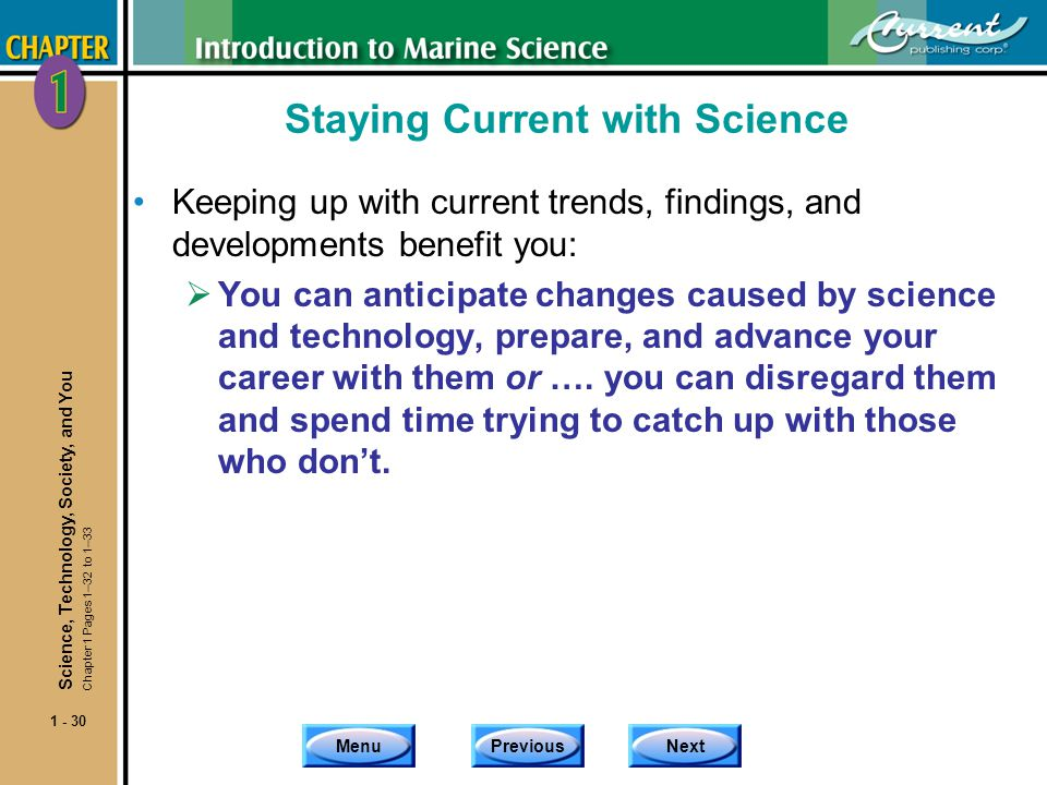 Staying Current with Science
