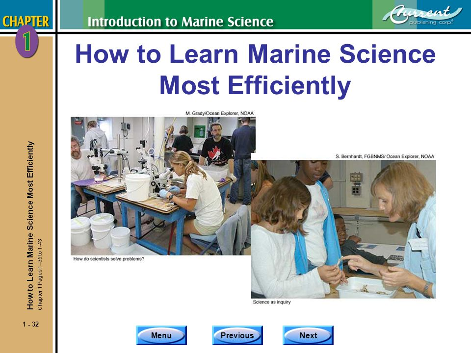 How to Learn Marine Science Most Efficiently
