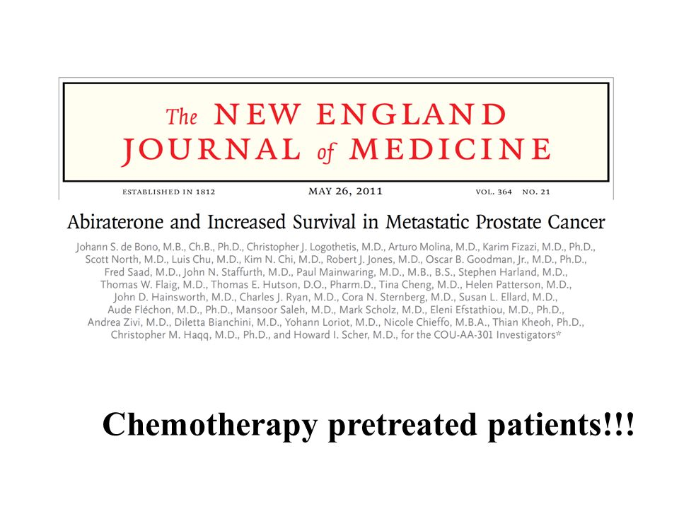 Chemotherapy pretreated patients!!!