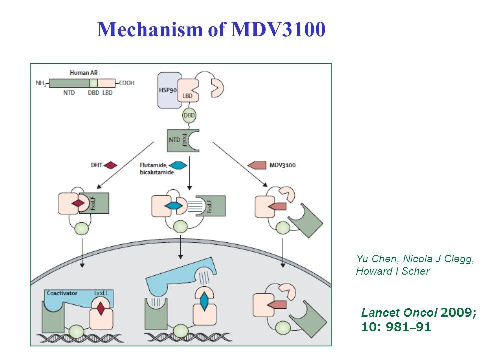 Mechanism of MDV3100 Lancet Oncol 2009; 10: 981–91