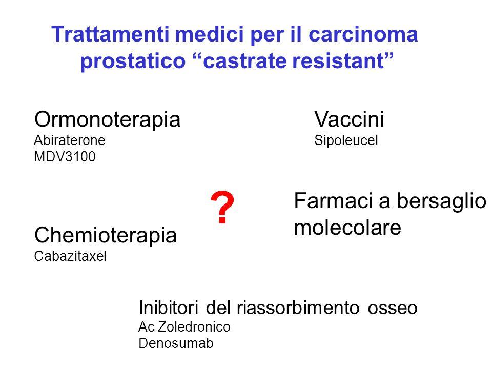 Trattamenti medici per il carcinoma prostatico castrate resistant
