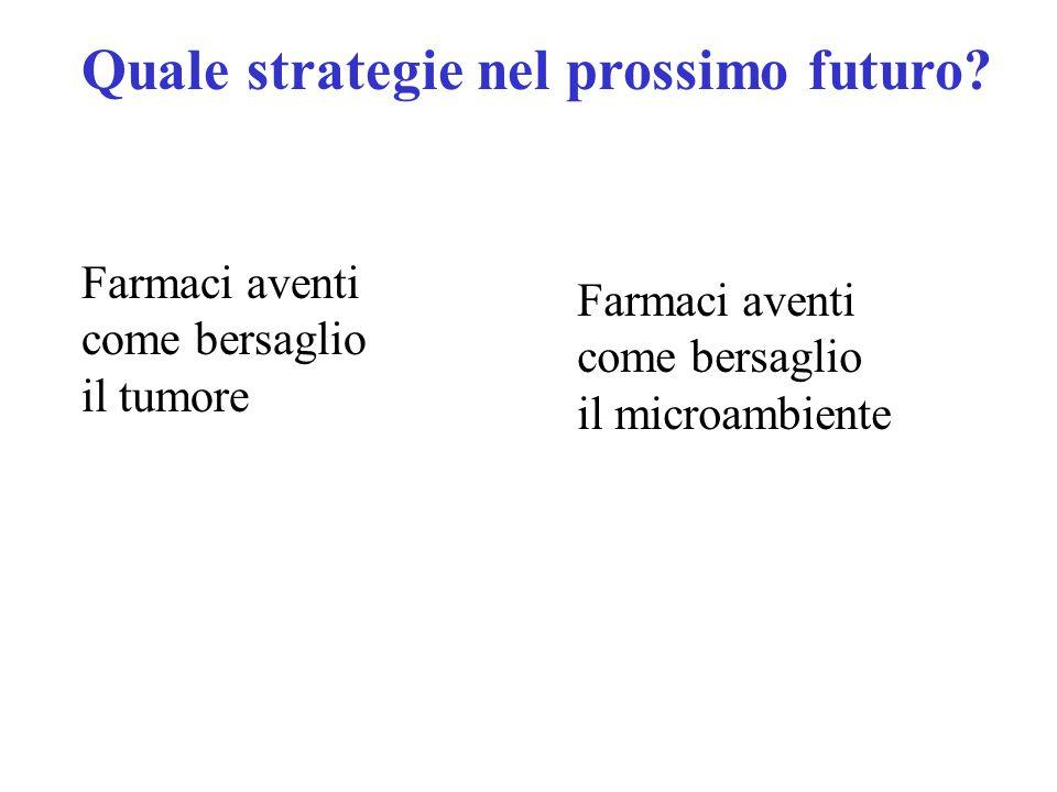 Quale strategie nel prossimo futuro