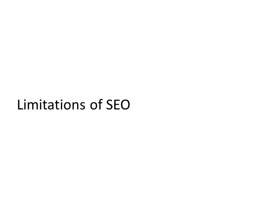Limitations of SEO