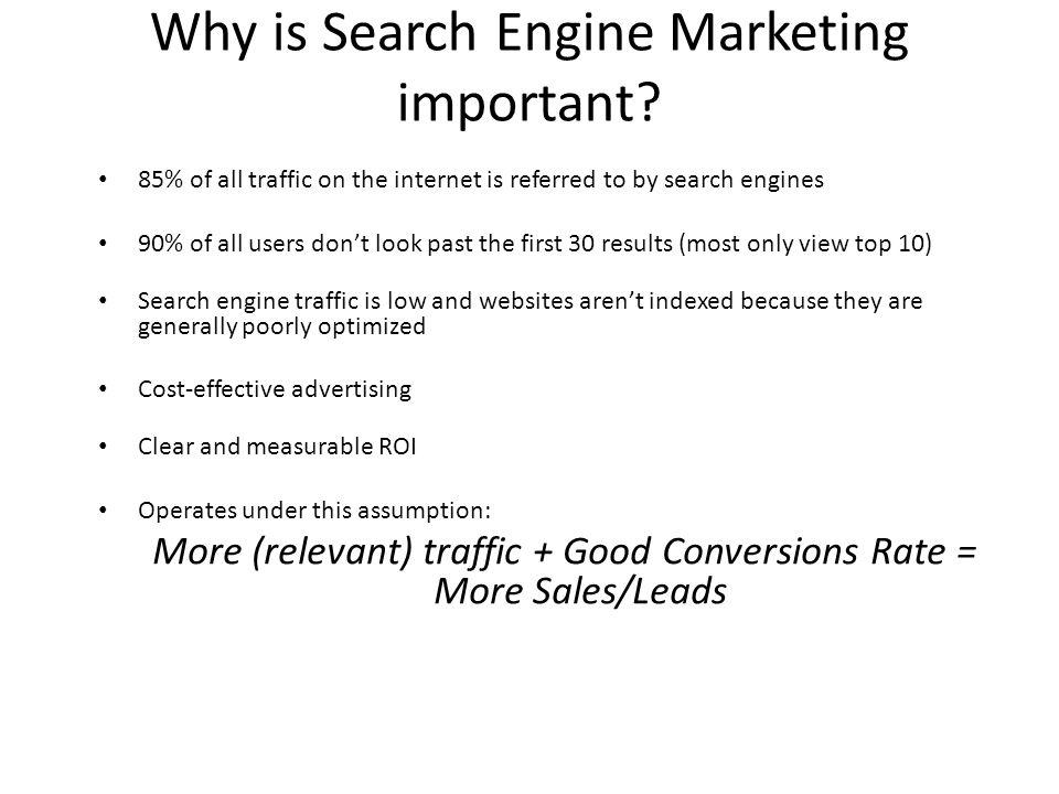 Why is Search Engine Marketing important