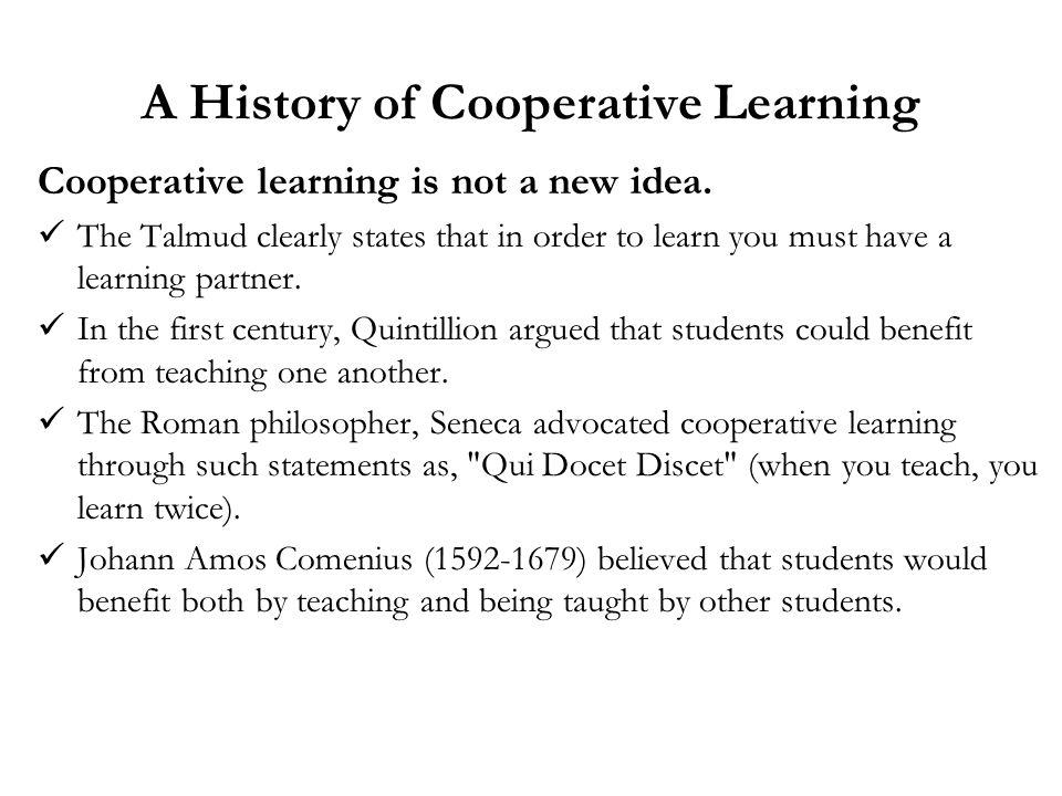A History of Cooperative Learning