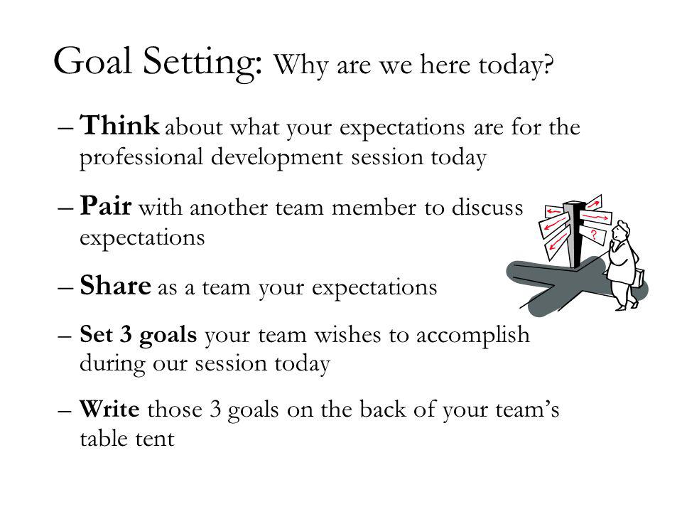 Goal Setting: Why are we here today