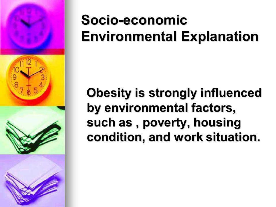 Socio-economic Environmental Explanation