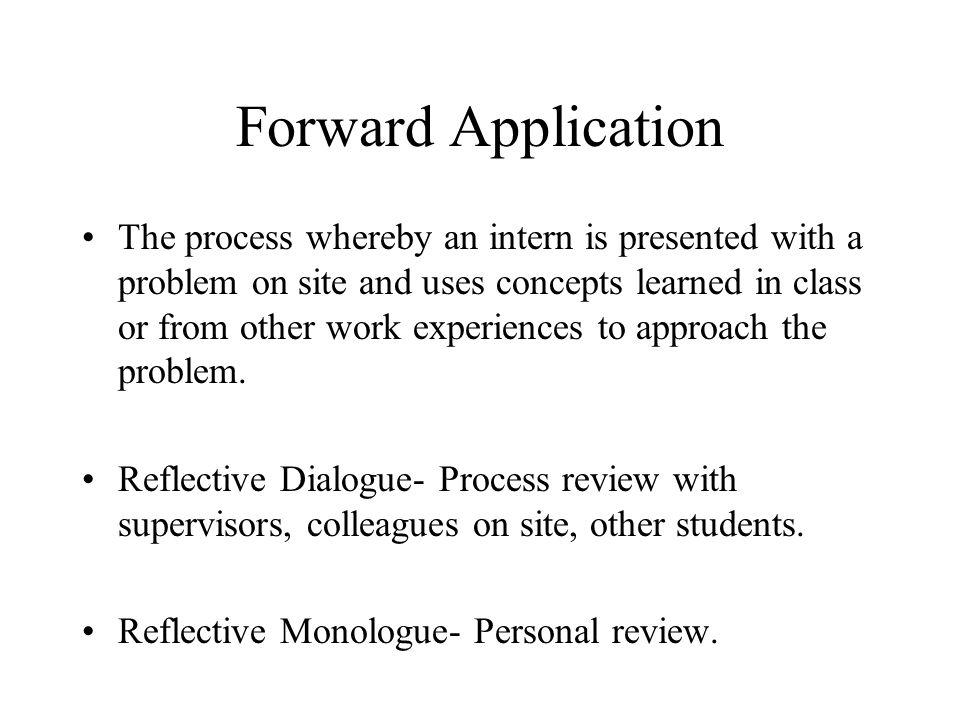 Forward Application