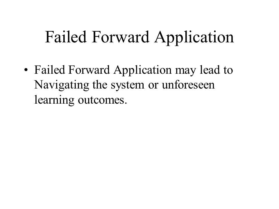 Failed Forward Application