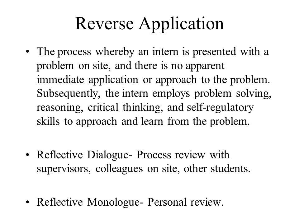 Reverse Application