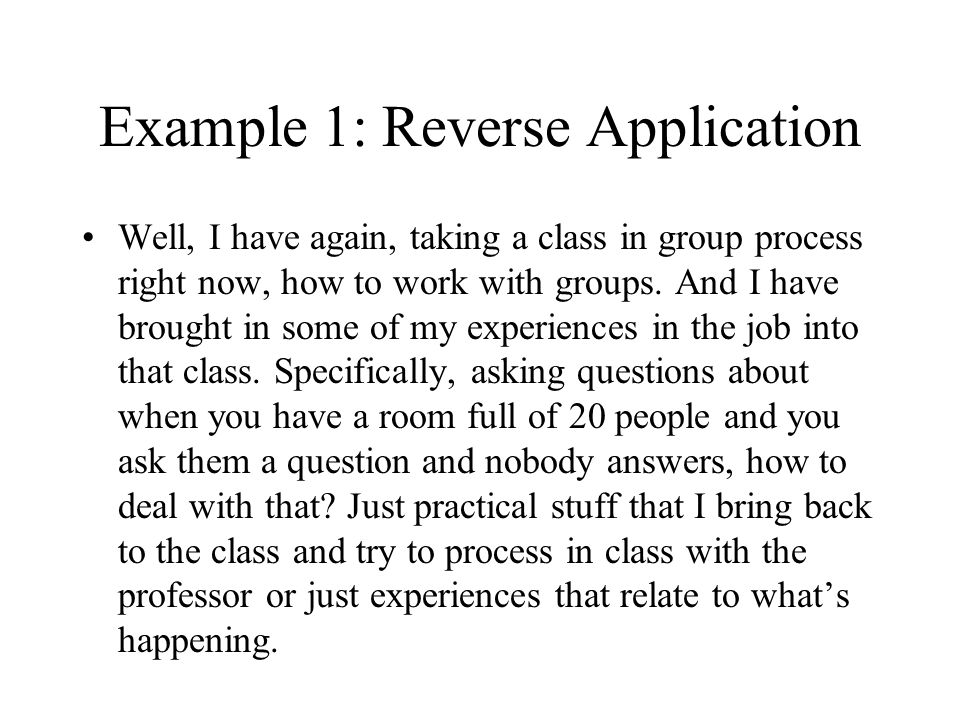 Example 1: Reverse Application
