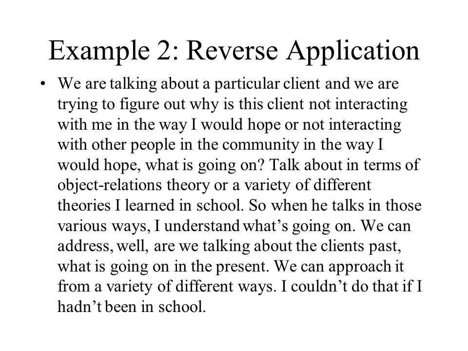 Example 2: Reverse Application