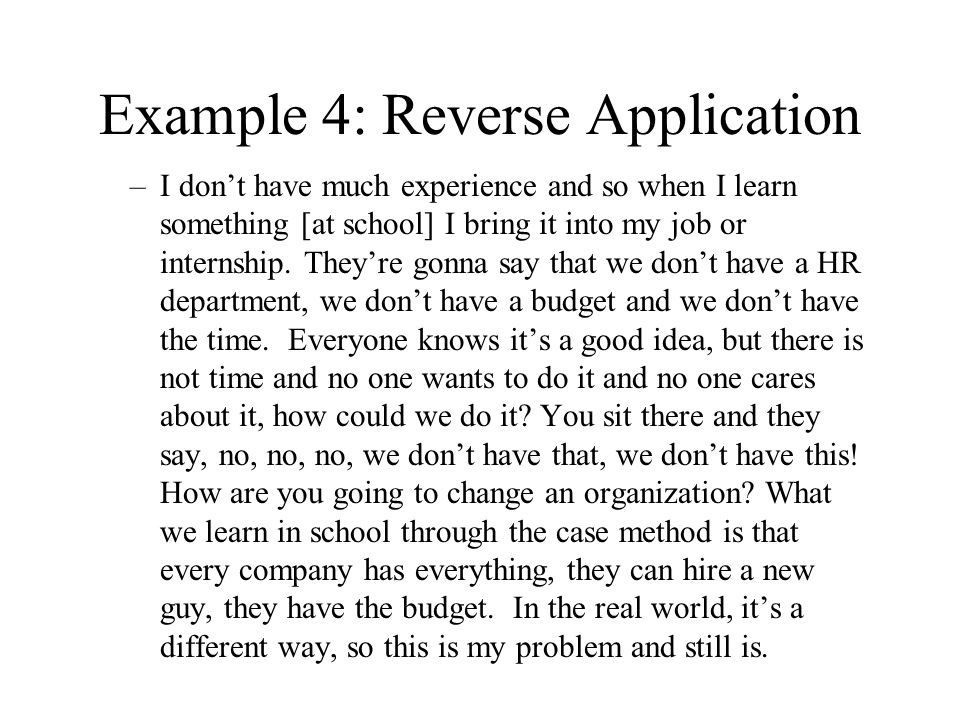 Example 4: Reverse Application