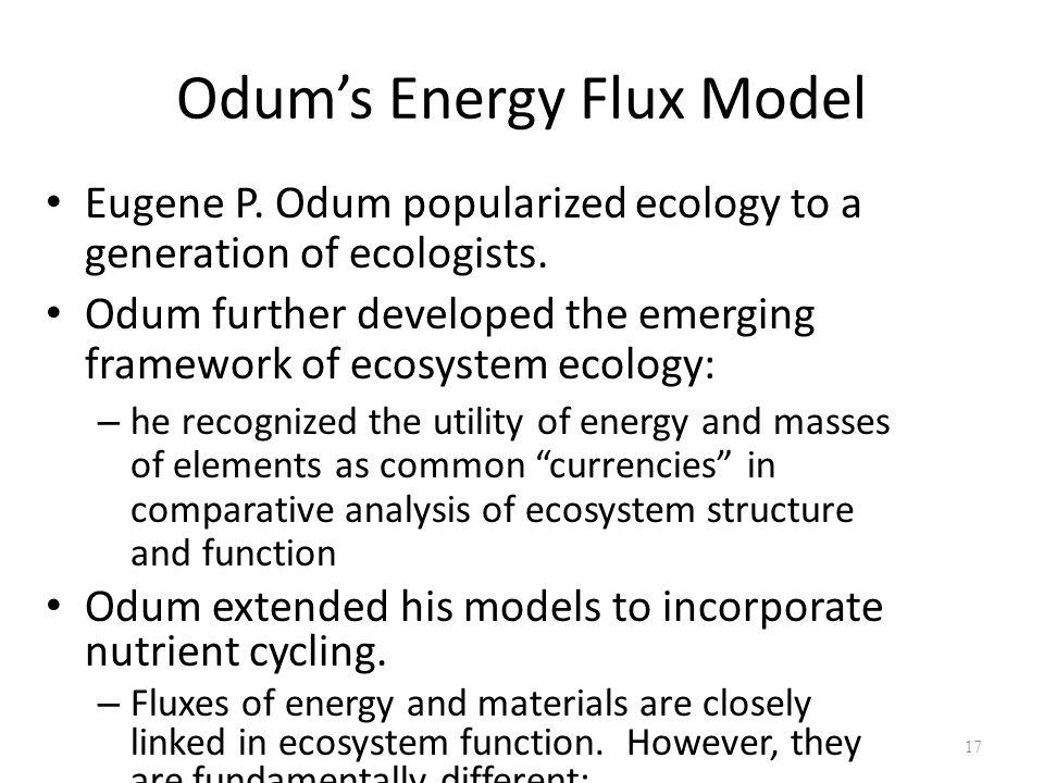 Odum's Energy Flux Model