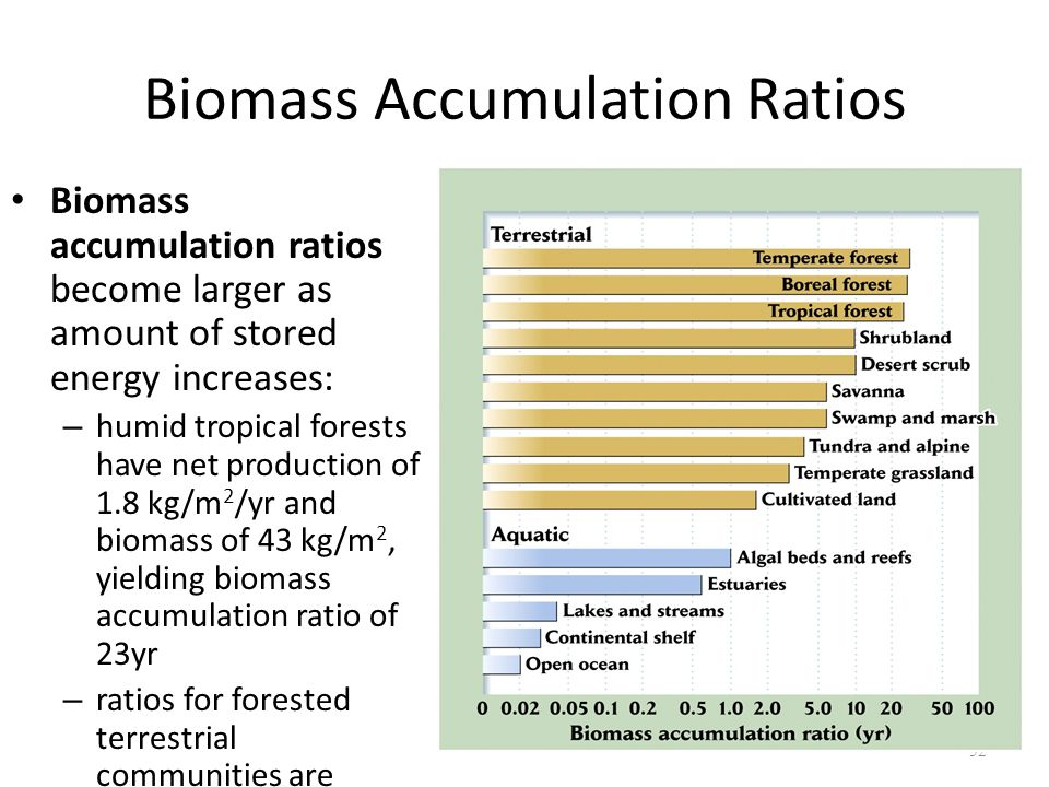 Biomass Accumulation Ratios