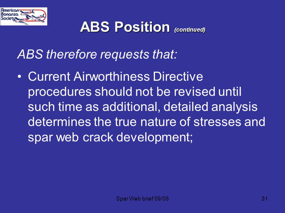 ABS Position (continued)