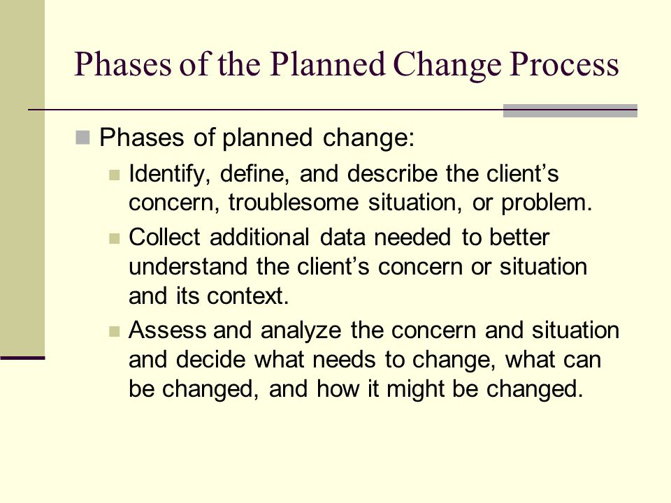Phases of the Planned Change Process
