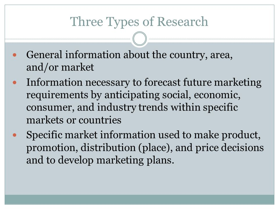 Three Types of Research
