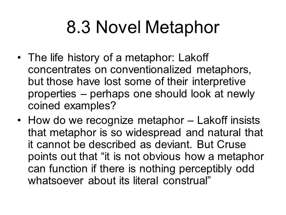 8.3 Novel Metaphor