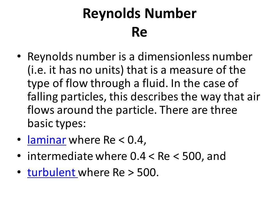 Reynolds Number Re