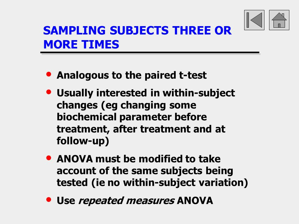 SAMPLING SUBJECTS THREE OR MORE TIMES