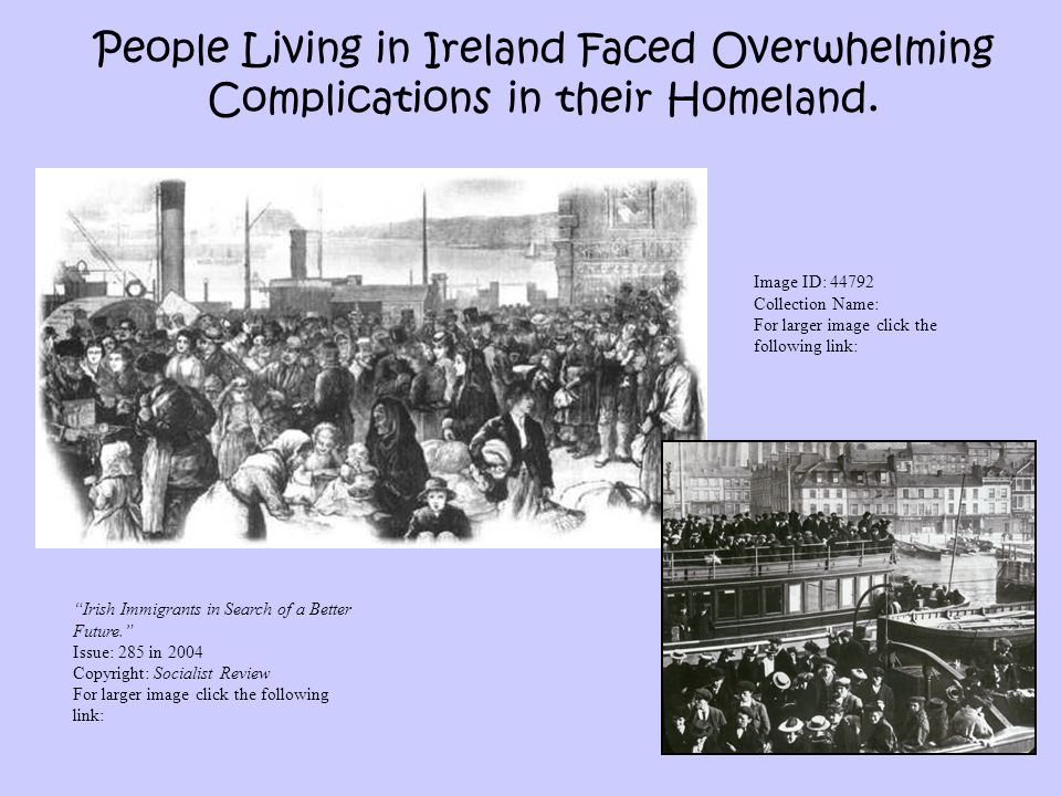 People Living in Ireland Faced Overwhelming Complications in their Homeland.