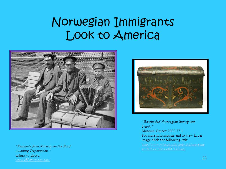 Norwegian Immigrants Look to America