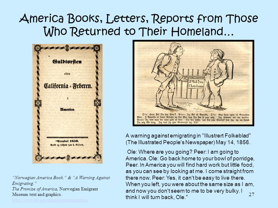 America Books, Letters, Reports from Those Who Returned to Their Homeland…