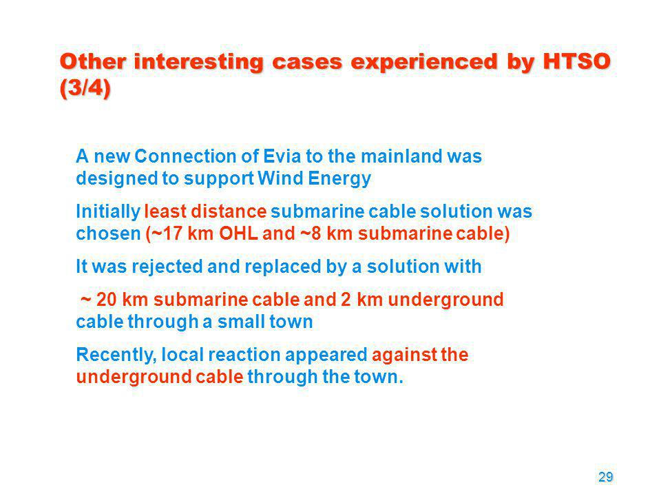 Other interesting cases experienced by HTSO (3/4)