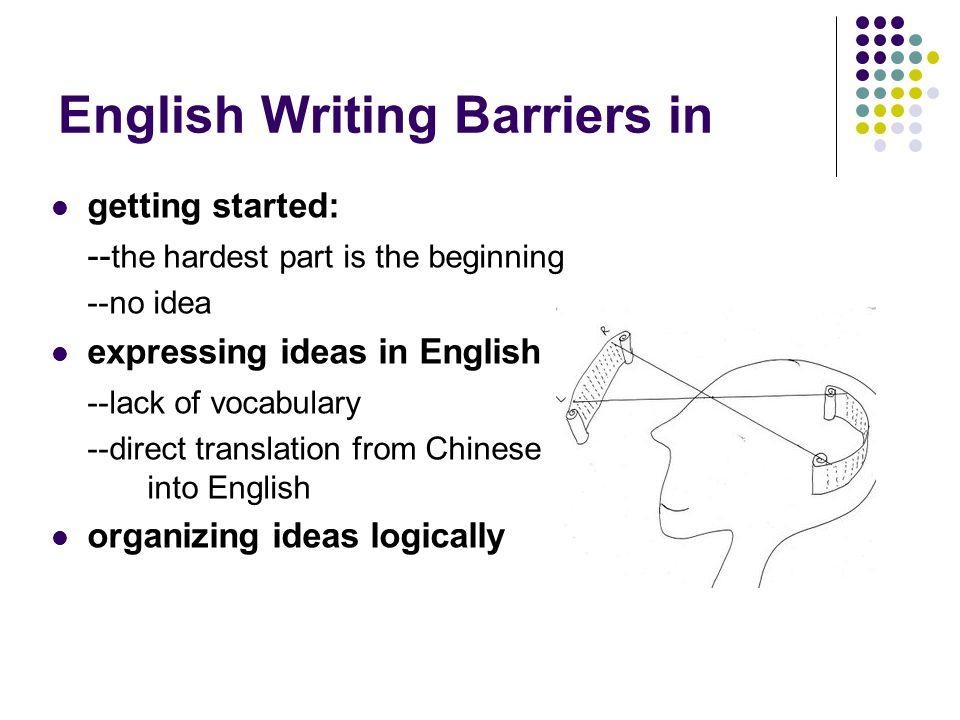 English Writing Barriers in