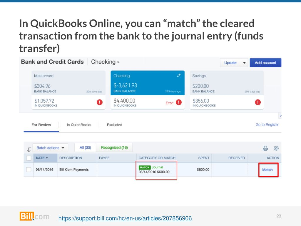 Managing your Payables with Bill com and QuickBooks Online