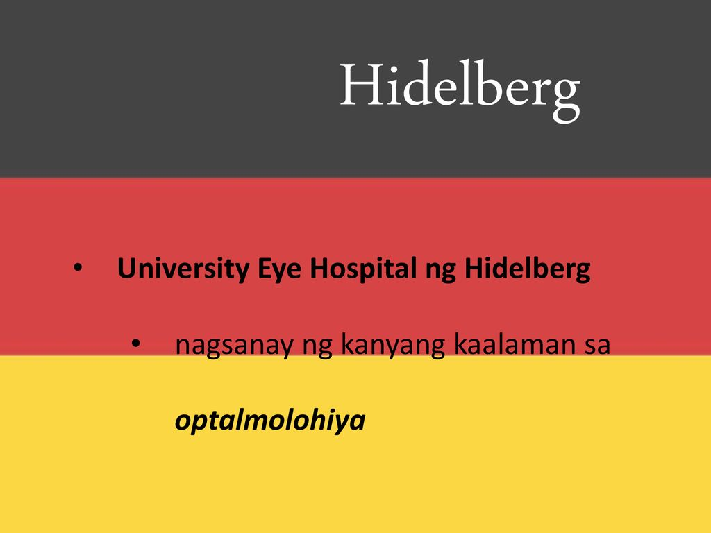 Hidelberg University Eye Hospital ng Hidelberg