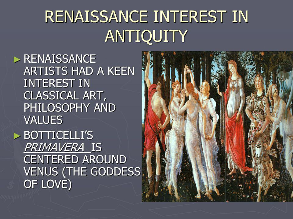 RENAISSANCE INTEREST IN ANTIQUITY