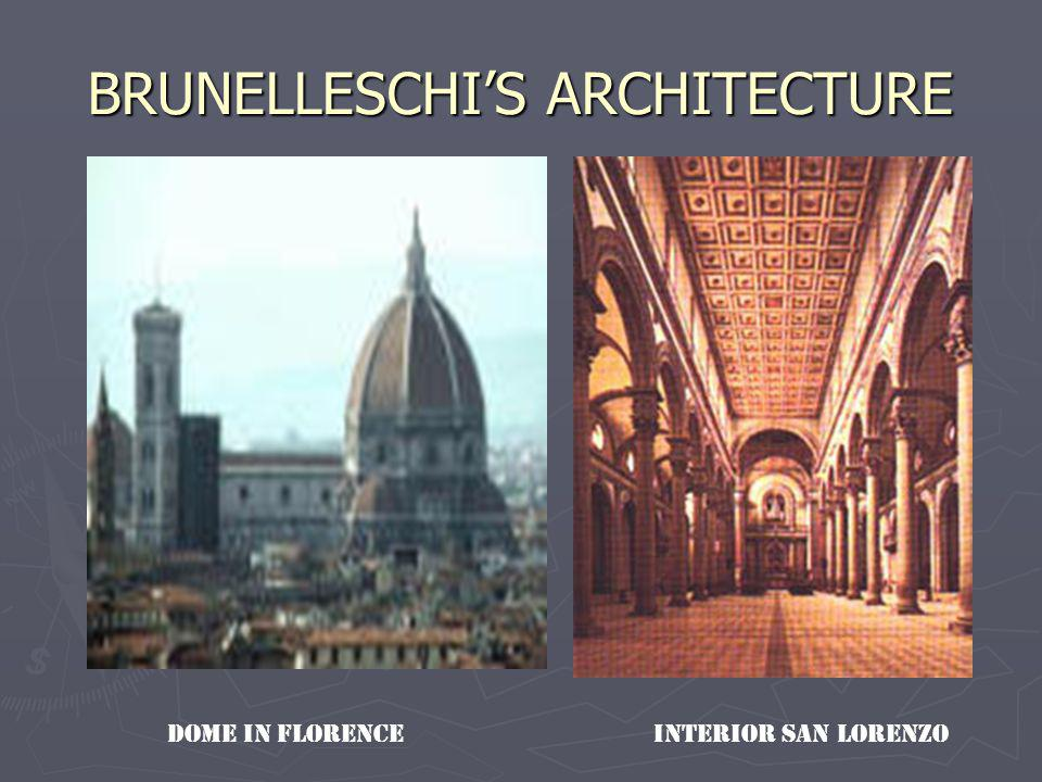 BRUNELLESCHI'S ARCHITECTURE