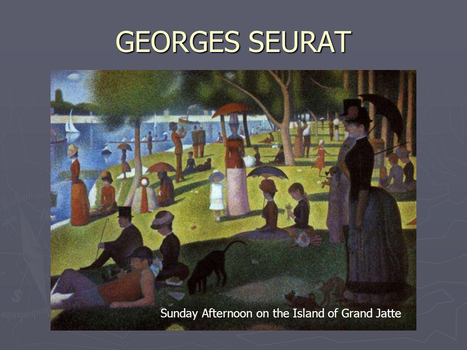 GEORGES SEURAT Sunday Afternoon on the Island of Grand Jatte